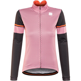 Sportful Cometa Thermal LS Jersey Women heather rose/black/red fluo